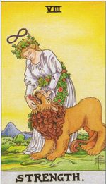 daily tarot card - strength
