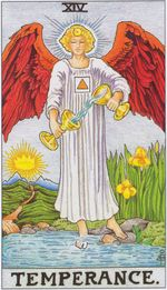daily tarot card - temperance
